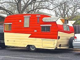 vintage travel trailer with wings in bouldin creek neighborhood