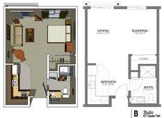 Studio Apartment Furniture Layout Ideas 20ftx24ft Cabin Or Studio Apartment Layout Compact Living Spaces