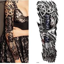 48x17cm nix 8 temporary tattoo men women full arm full hand