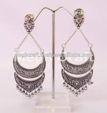 jhumka earrings indian oxidized jhumka earrings vintage antique silver plated
