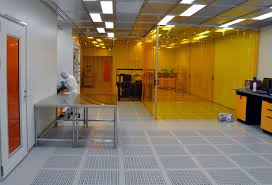 two researchers at work in the clean room okinawa institute of