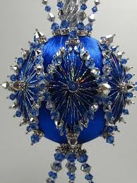Blue Christmas Decorations Ebay by 182 Best Ornaments Satin Balls Blues Images On Pinterest Beaded