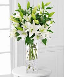 white lillies winter white lilies christmas choices florist