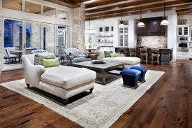 open kitchen living room design with modern space saving design