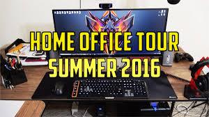 home office setup tour summer 2016 youtube