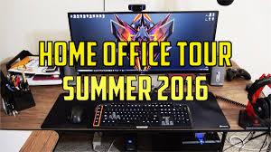 home office setups home office setup tour summer 2016 youtube