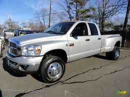 2008 Dodge Ram 3500 St Quad Cab 4x4 Dually In Bright Silver