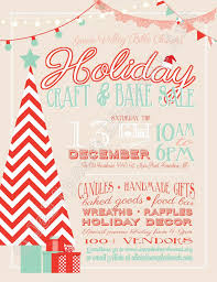 Holiday Crafts Pinterest - holiday craft boutique fair show printable flyer by jalipeno