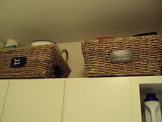 Kitchen Cabinet Storage Baskets Baskets Above Cabinets For More Storage Organization Pinterest