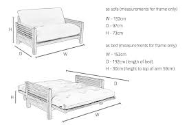 Sofa Bed  Seater Double Sofa Bed - Double sofa bed dimensions