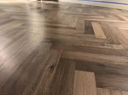 herringbone oak hardwood floor installation in chicago