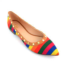 Flatshoes Buy Online Flats Bellies Stylish Multicolored Flat Shoes For