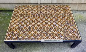 jofran baroque mosaic tile top coffee table 698 1 the simple west