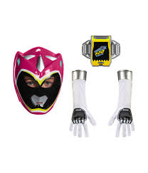 Pink Ranger Halloween Costume Pink Power Ranger Dino Charge Girls Rangers Mask Glove Belt