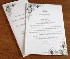 wedding menu card wording what to include in your wedding menu