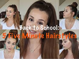 back to 5 five minute hairstyles quick cute u0026 easy