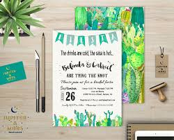 desert chic watercolor cactus fiesta bridal or baby shower