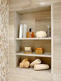 how to build a recessed wall shelf