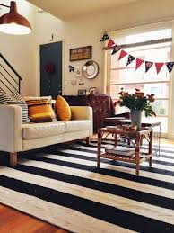 Striped Area Rugs 8x10 Wonderful Black And White Striped Area Rug Cievi Home With Regard