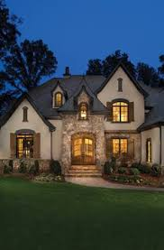 French Country House Plans One Story Cottage Style Single Story Home Exterior French Country Style