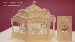 how to make a carousel pop up card