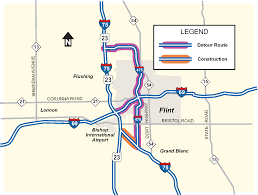 Flint Michigan Map Som I 75 Detour Rescheduled For Work Under I 475