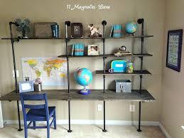 Industrial Bookcase Diy Diy Industrial Shelving U0026 Desk In A Boy U0027s Room 11 Magnolia Lane