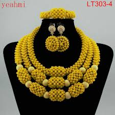 african beads necklace images Amazing orange african beads jewelry set nigerian beads necklace jpg