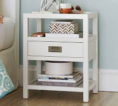 White Bedside Table Lonny Nightstand Pottery Barn