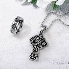 ring charms necklace images Cross jewelry rosary beads necklaces sideway cross necklaces jpg
