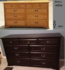 dresser before and after using rustoleum furniture transformation