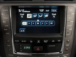 lexus is 250 center console image 2009 lexus is 250 4 door sport sedan auto rwd temperature