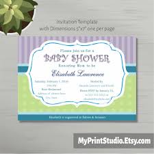neutral printable baby shower invitation template in ms word