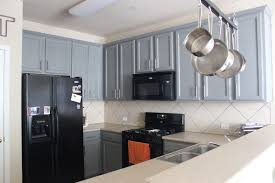 Gray Kitchen Cabinet Grey Kitchen Cabinets With Black Appliances Outofhome
