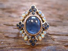 cornflower blue opal opal sapphire antique ring this is interestingly close to my