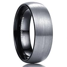 tungsten carbide wedding bands for king will basic 8mm black dome tungsten carbide wedding band ring