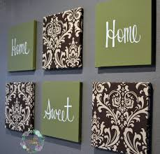 home sweet home decoration olive green and brown damask home sweet wall decor set loversiq