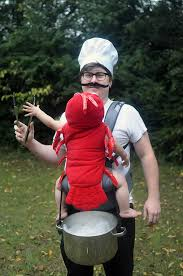 Lobster Costume Diy Babywearing Costume Chef And Lobster