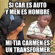 si es auto meme skeptical 3rd kid si car es auto y es hombre mi