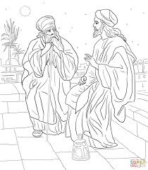 jesus and nicodemus coloring page free printable coloring pages