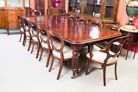 antique 10 ft victorian dining table c 1850 u0026 12 chairs