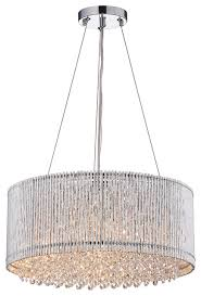 Chandeliers With Shades And Crystals by Drum Shade Crystal Chandelier Contemporary Pendant Lighting