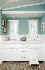 Built In Bathroom Vanity Pebble Bathroom Floor Cottage Bathroom Jacqueline Demontravel