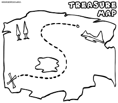 pirate map coloring pages coloring home