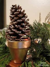 Decorating Pine Cones With Glitter How To Make Glitter Pine Cones Decor Adventures