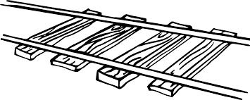 train tracks clipart black and white clipartsgram com