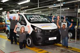 vauxhall vauxhall vauxhall celebrates one million vivaro vans built in luton