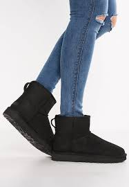 womens black ankle ugg boots uggs leather boots usa ugg ii boots chestnut