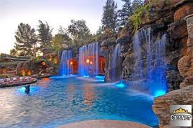 cool pool houses cool pools with waterfalls in houses design inspiration makeovers