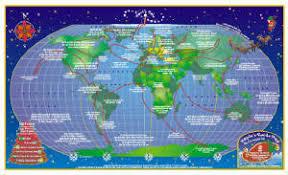 santa map custom cartographic design